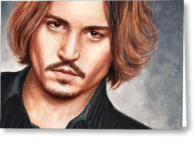 Depp Greeting Card by Bruce Lennon