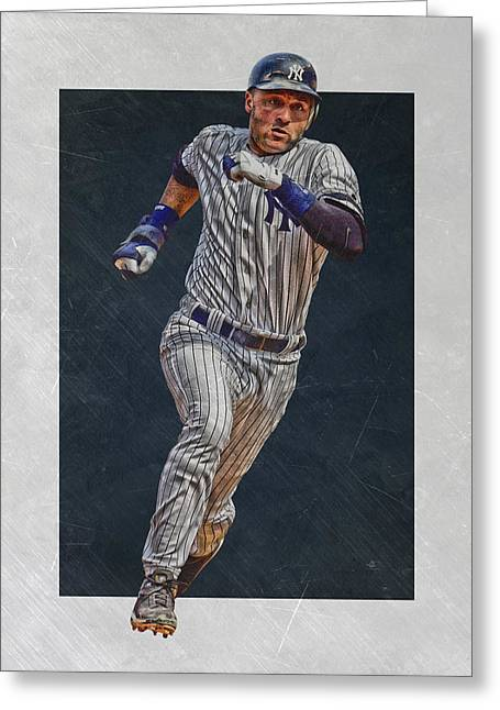 Derek Jeter New York Yankees Art 3 Greeting Card by Joe Hamilton