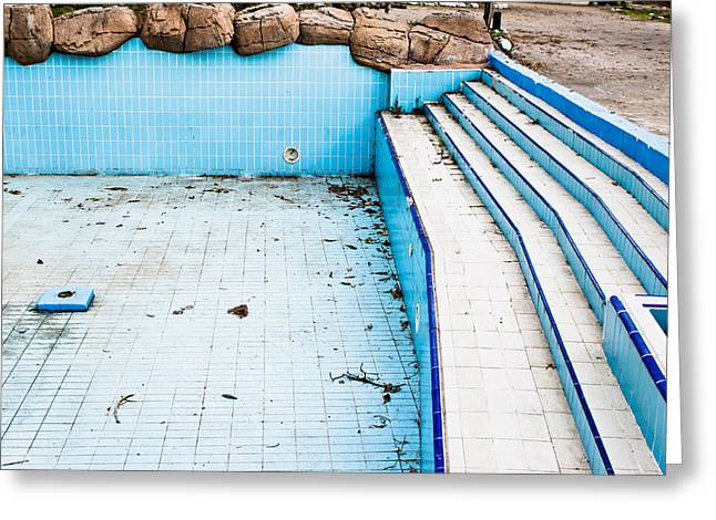 Derelict Pool Greeting Card by Tom Gowanlock