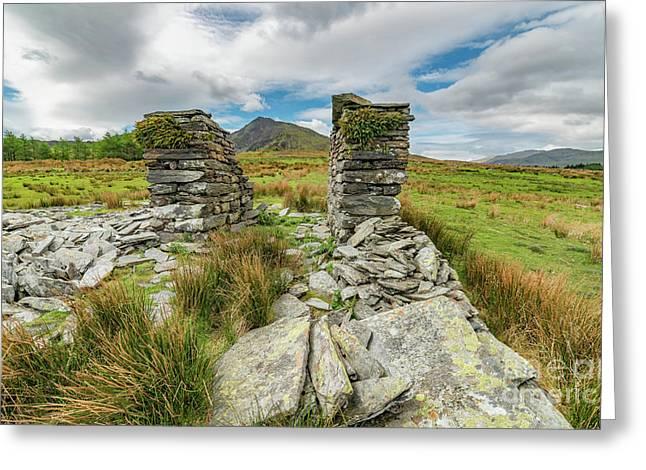 Derelict Quarry Building Greeting Card by Adrian Evans