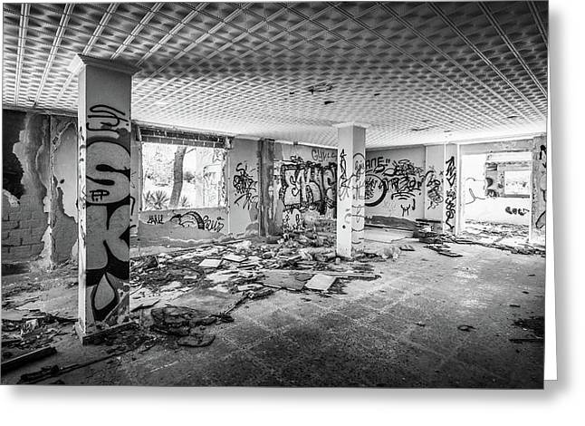 Derelict Room. Greeting Card by Gary Gillette