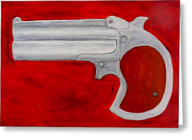 Gun Owner Greeting Cards - Derringer Greeting Card by Patrice Tullai