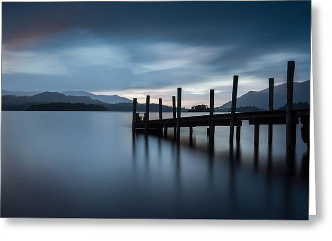 Aperture Greeting Cards - Derwent Water Jetty Greeting Card by John Fyn