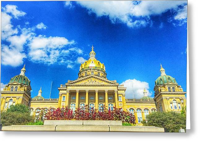 Jame Hayes Greeting Cards - Des Moines-Capital City Greeting Card by Jame Hayes