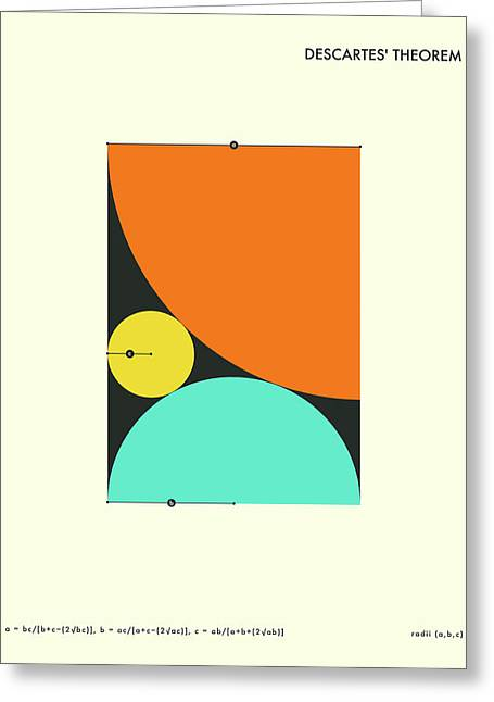 Mathematics Digital Greeting Cards - Descartes Theorem Greeting Card by Jazzberry Blue