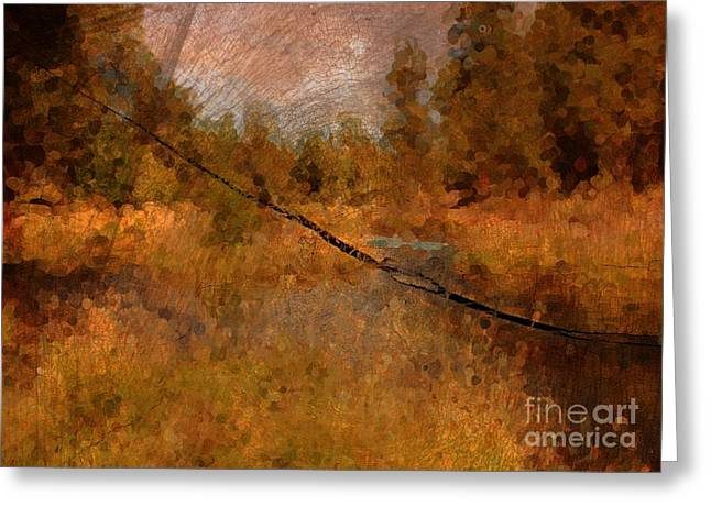 Deschutes River Abstract Greeting Card by Carol Groenen