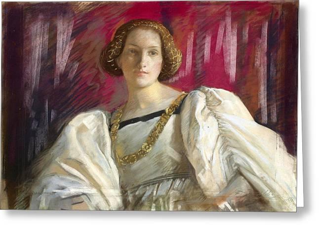Desdemona Greeting Cards - Desdemona Greeting Card by Edwin Austin Abbey