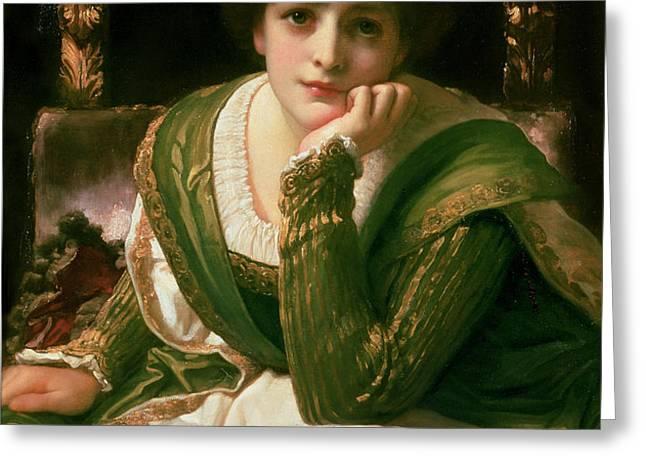 Desdemona Greeting Card by Frederic Leighton