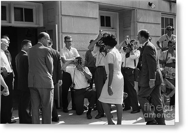 Reporter Greeting Cards - Desegregation, 1963 Greeting Card by Granger