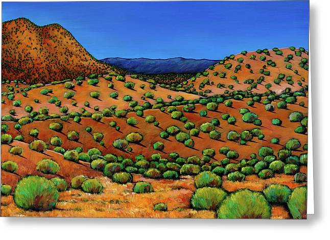 Santa Fe Desert Greeting Cards - Desert Afternoon Greeting Card by Johnathan Harris