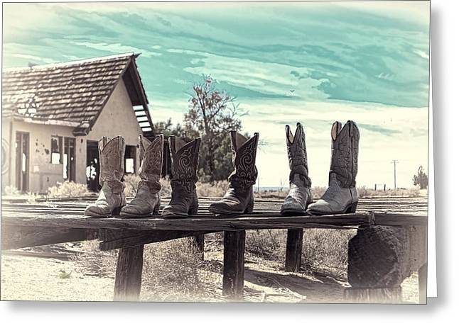 Boots Digital Art Greeting Cards - Desert Boots Greeting Card by Jerry Hetrick