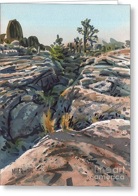 National Paintings Greeting Cards - Desert Boulders Greeting Card by Donald Maier