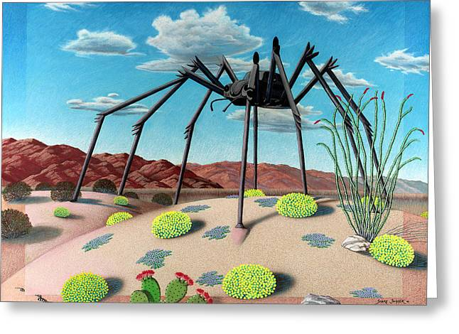 Cactus Greeting Cards - Desert Bug Greeting Card by Snake Jagger
