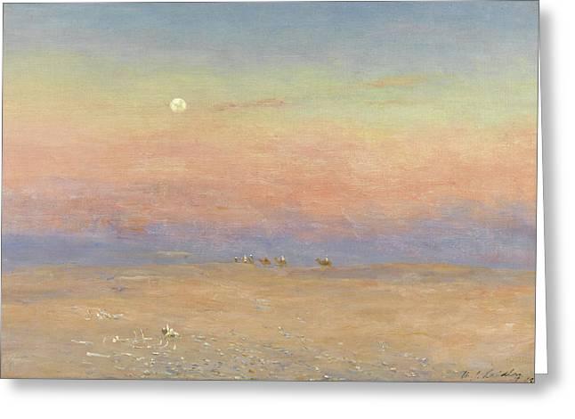 Desert Caravan Greeting Card by William James Laidlay