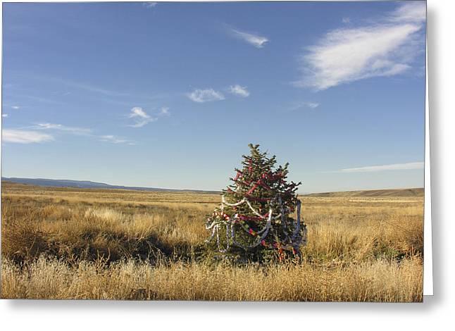 Bleak Desert Greeting Cards - Desert Christmas Greeting Card by Dusty Demerson