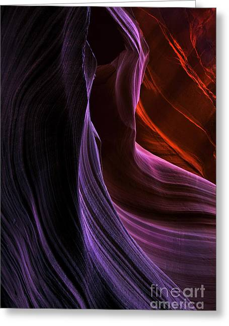Antelope Canyon Greeting Cards - Desert Colors Greeting Card by Mike  Dawson