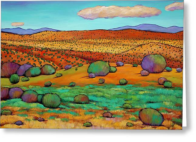 Taos Greeting Cards - Desert Day Greeting Card by Johnathan Harris