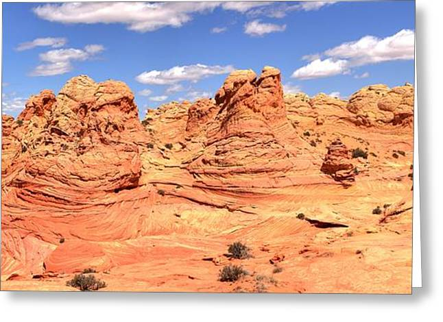Surreal Landscape Greeting Cards - Desert Dreamland Panorama Greeting Card by Adam Jewell