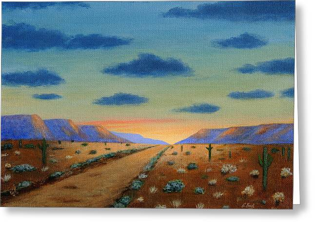 Desert Highway Greeting Card by Gordon Beck