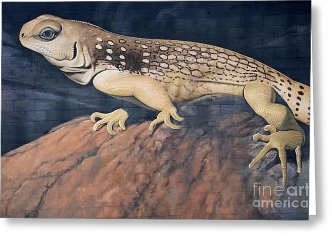 California Art Greeting Cards - Desert Iguana Mural Greeting Card by Bob Christopher