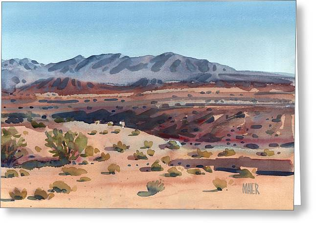 Desert Paintings Greeting Cards - Desert in New Mexico Greeting Card by Donald Maier