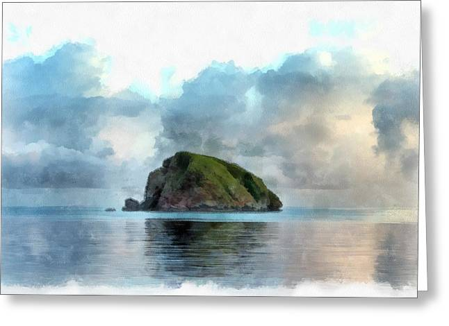 Occasion Greeting Cards - Desert Island in the Indian Ocean Greeting Card by Sergey Lukashin