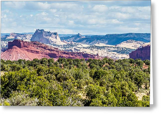 Southern Utah Greeting Cards - Desert Landscapes In Utah With Sandy Mountains Greeting Card by Alexandr Grichenko