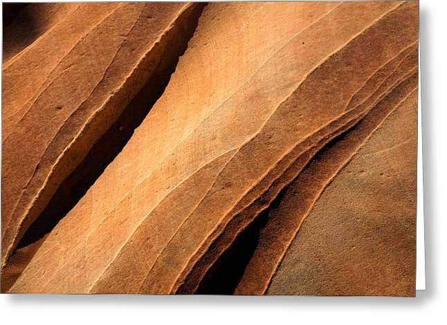 Sandstone Photographs Greeting Cards - Desert Lines Greeting Card by Mike  Dawson
