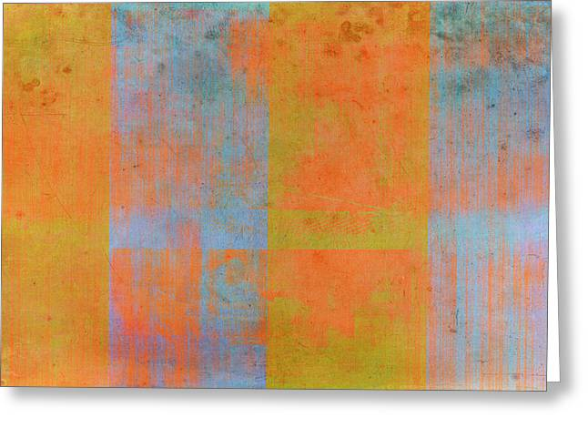 Blue Abstract Art Greeting Cards - Desert Mirage Greeting Card by Julie Niemela