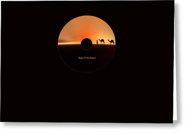 Desert Mirage Greeting Card by Valerie Anne Kelly