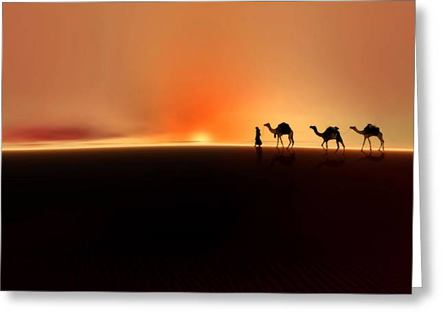 Valzart Greeting Cards - Desert mirage Greeting Card by Valerie Anne Kelly