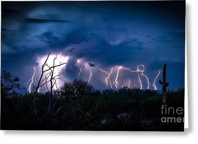 Desert Monsoon Greeting Card by Jon Berghoff