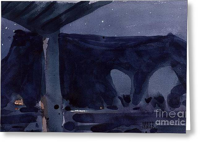 Black Mesa Greeting Cards - Desert Nocturne Greeting Card by Donald Maier
