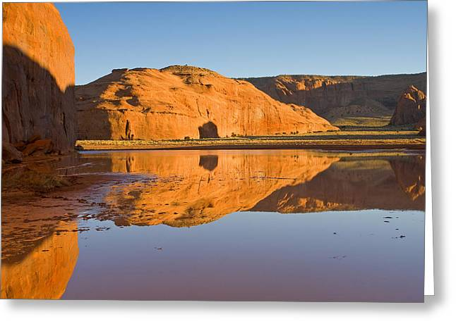 Oasis Greeting Cards - Desert Pools Greeting Card by Mike  Dawson