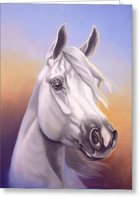 Arabian Pastels Greeting Cards - Desert Prince Greeting Card by Howard Dubois