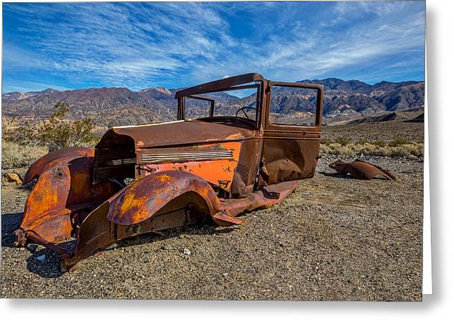 Desert Relic Greeting Card by Peter Tellone