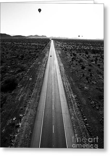 Scottsdale Artist Greeting Cards - Desert Road Greeting Card by Scott Pellegrin