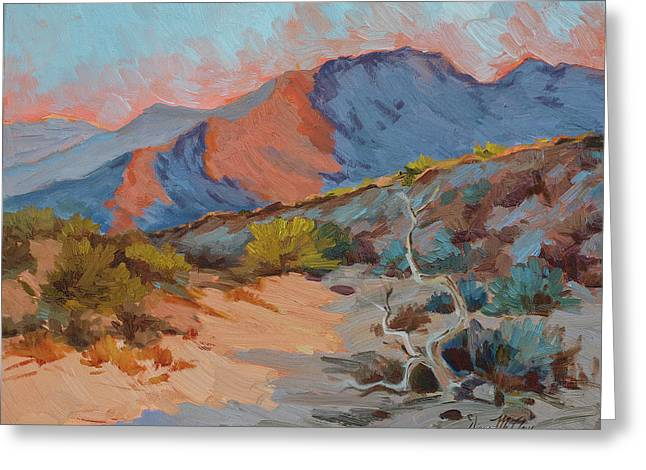 Light And Shadows Greeting Cards - Desert Shadows Greeting Card by Diane McClary