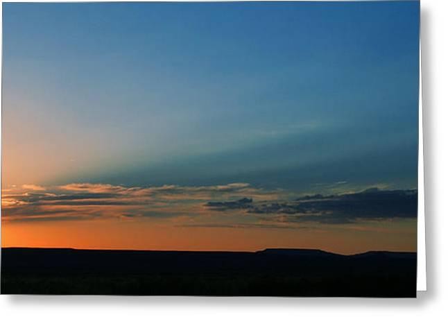 Sienna Greeting Cards - Desert Sky Greeting Card by Chrissy Skeltis