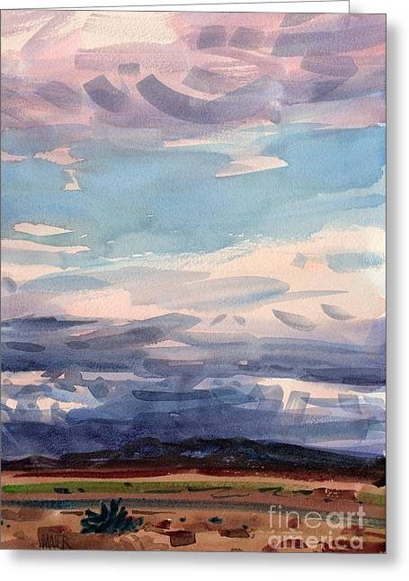 Skyscape Greeting Cards - Desert Skyscape Greeting Card by Donald Maier