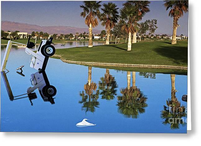 Desert Springs Golf Club Greeting Card by David Zanzinger