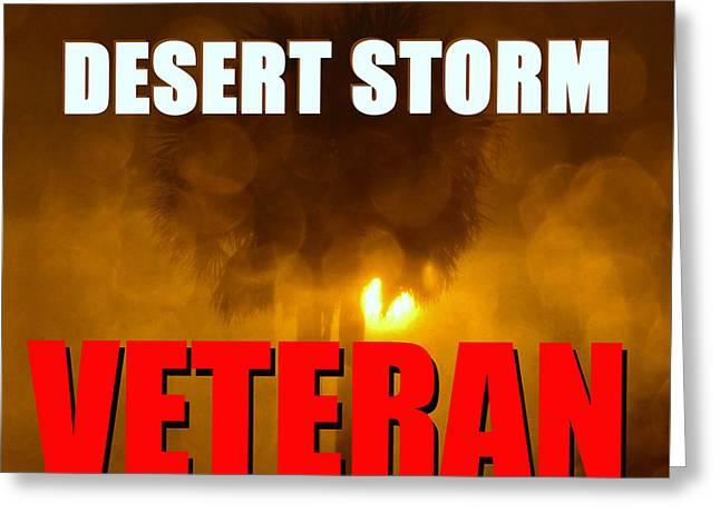 Desert Storm Vet Phone Case Work Greeting Card by David Lee Thompson