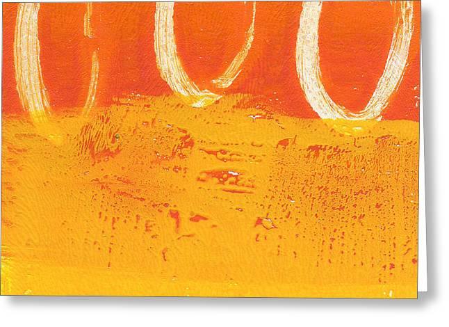 Desert Sun Greeting Card by Linda Woods