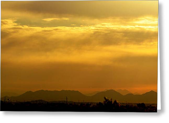 Arizona Posters Greeting Cards - Desert Sunrise Surprise Arizona Photo Greeting Card by Barbara Snyder