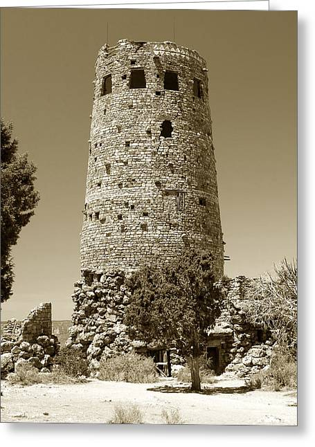 Historic Architecture Greeting Cards - Desert tower work number 2 Greeting Card by David Lee Thompson