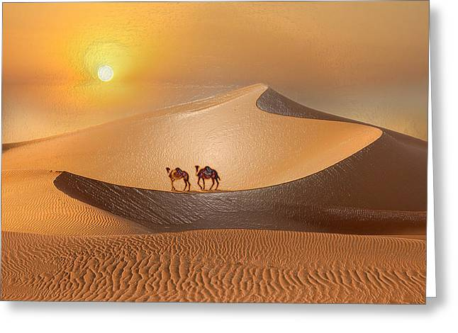 Sahara Sunlight Greeting Cards - Desert Turtle Greeting Card by Scott Mendell