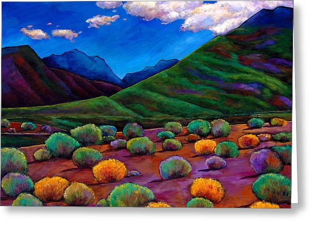 Santa Fe Desert Greeting Cards - Desert Valley Greeting Card by Johnathan Harris