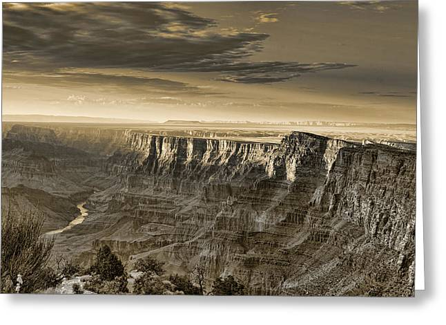 Filter Art Greeting Cards - Desert View - Anselized Greeting Card by Ricky Barnard