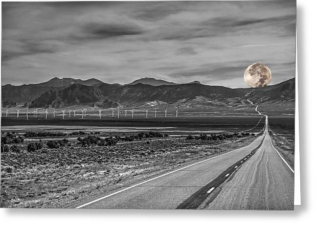 Mountain Road Greeting Cards - Desert Wind Greeting Card by Donna Kennedy