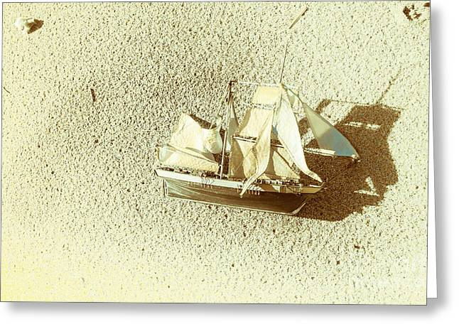 Deserted Antique Sailing Ship Greeting Card by Jorgo Photography - Wall Art Gallery